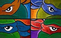 「ninja turtle canvas painting」の画像検索結果