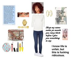 im seriously feeling hit by tailormade-15 on Polyvore featuring polyvore, fashion, style, Vero Moda, Lee, Express, Charlotte Russe, Vince Camuto, With Love From CA, Maybelline, Bare Escentuals, Witchery, Cath Kidston, Love Quotes Scarves and Identity