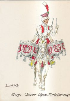 Berg: Chevau-légers, Timbalier - 1809 War Drums, Royal Guard, Napoleonic Wars, Berg, Franz, Empire, Naples, Soldiers, Warriors