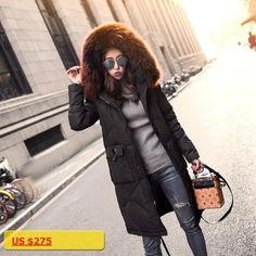Plus Size S~5XL Women Jackets Parka Duck Down Luxury Real Racoon Dog Fur Hood 2017 Winter Female Coats Warm Windbreak Outerwear