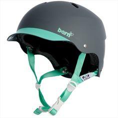 Bern Lenox Hard Hat Women's Skate/Bike Helmet, XS, Grey/Green