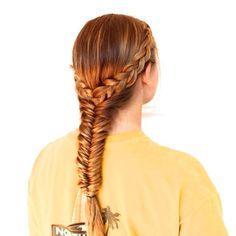 Dutch braids and fishtail