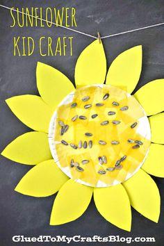 Paper Plate Sunflower - Kid Craft Idea