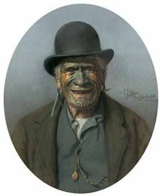 New Zealand Art Print News: Prints of Maori Portraits painted by Goldie, Lindauer - Should they be allowed by New Zealand Galleries? Ta Moko Tattoo, Maori People, Famous Portraits, Maori Designs, New Zealand Art, Nz Art, Maori Art, Kiwiana, Canvas Art Prints