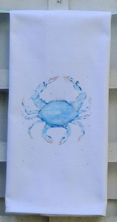Blue Crab Kitchen Towel by PamelaCassidyDesigns on Etsy, $11.00