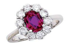 Pink Tourmaline Diamond Ring.
