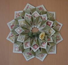 Fold'n stitch wreath by CountryInspireCreate on Etsy