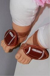 Barefoot Sandals, Football - 4x4 | Football | Machine Embroidery Designs | SWAKembroidery.com Band to Bow