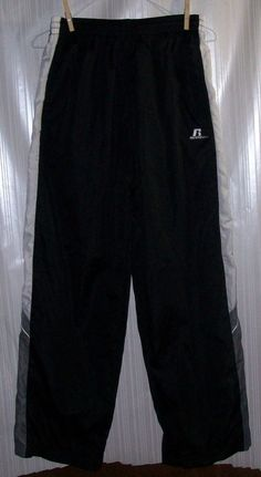 RUSSELL ATHLETIC Boys Size 14/16 Blk/Gray/White Pants #RussellAthletic