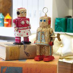Pav� Robot Asst 2 Designs Metal/Acrylic © Twos Company