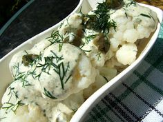 Kalafior w sosie kaparowym Potato Salad, Mashed Potatoes, Ethnic Recipes, Food, Whipped Potatoes, Smash Potatoes, Essen, Meals, Yemek