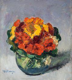 Kees van Dongen (Dutch, 1877-1968), Bouquet de fleurs. Oil on board, 30.8 x 27.3 cm