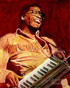 "David Lloyd Glover, ""Herbie Hancock Rockit"" - Many of Hollywood's A-list celebrities and recording stars are among his top collectors. For his many galleries, Glover has created images ranging from Impressionist landscapes to Iconic pop art images of Jazz artists and Rock stars.  David Lloyd Glover has a 25-year international reputation exhibiting in major galleries in the US, Canada, Mexico, and Japan. Since 1986 he has sold over 2,000 original paintings."