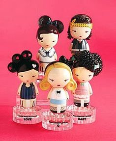 harajuku lovers perfume- my favorite one is the blond one. it smells amazing
