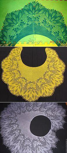 """Schal Ryabinka (auch bekannt als """"Goldener Herbst"""", sie """"Purple Herbst"""") . Knit Or Crochet, Lace Knitting, Crochet Shawl, Knitting Stitches, Knitting Patterns, Shawl Patterns, Crochet Flower Patterns, Knitted Shawls, Crochet Scarves"""