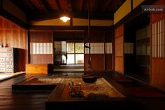 inside a traditional japanese house