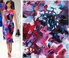 Splash Connect: Roksanda - Spring 2015 Ready-to-wear - Palette Splash - Primary Red / Primary Blue / Pink / Pastel Blue / Lilac / Black / White
