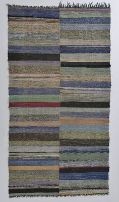 Hand woven carpet.Recycled cotton.Turkey.1980-