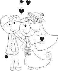 Resultado de imagem para desenhos para imprimir de noivos