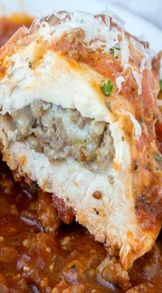 Italian Sausage Stuffed Bake Chicken Breasts