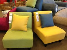 These great occasional chairs on sale for $199 in a choice of colours at Fantastic furniture
