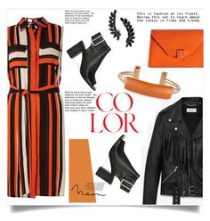 """""""color"""" by dashakrukovskaya ❤ liked on Polyvore featuring Dorothy Perkins, Yves Saint Laurent, Valextra, Pluma and Cristabelle"""