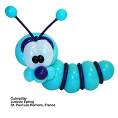 Caribbean blue entries Balloon Caterpillar Ludovic Epting St. Paul Les Romans, France