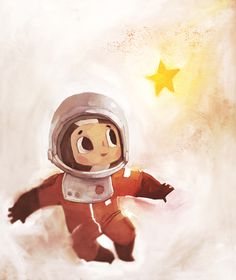 art by Ciaran Duffy Astronaut Drawing, Astronaut Illustration, Children's Book Illustration, Character Illustration, Kid Character, Character Design, Cartoon Monkey, Cute Images, Art Lessons