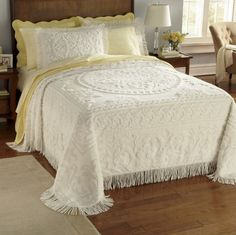 Savannah Chenille Bedspread & Sham from Through the Country Door® | CB712252