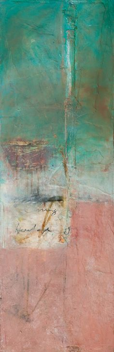 Raindance, mixed media on board, 12 x 36 ins., jennifer perlmutter
