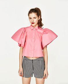 Image 1 of from Zara Zara Tops, Estilo Fashion, Ideias Fashion, Pink Bow Tie, Oscar Fashion, Vetement Fashion, Zara Shirt, Fashion Tips, Fashion Trends