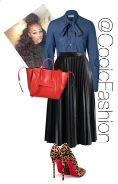 Youth Sunday by cogic-fashion on Polyvore featuring RED Valentino, Chicwish and Christian Louboutin