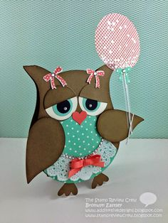 Birthday Balloon owl addINKtive designs