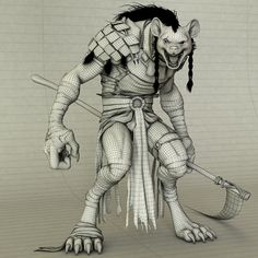 Gnoll by DSGARCIA | Creatures | 3D | CGSociety