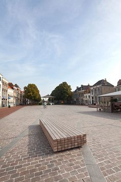 Bench at Havenplein Zierikzee, NL by Bureau B+B. Click image for full profile and visit the slowottawa.ca boards >> https://www.pinterest.com/slowottawa/boards