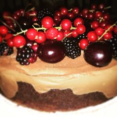Cherry chocolate mousse cake
