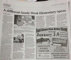 This is more of a Ad Placement Fail - Sandy Hook Elementary and Fine Arms Show #Embarrassing