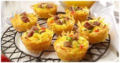 Amazing Muffin Cups Kraft Recipes, Kraft Foods, Breakfast Dishes, Breakfast Recipes, Breakfast Muffins, Breakfast Casserole, Breakfast Hash, Egg Muffins, Sausage Muffins