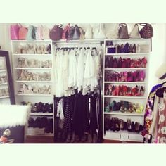 Symmetry = pretty. | 21 Brilliantly Organized Closets That Will Make You Want To Clean
