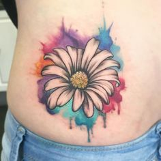 48 Unique Daisy Tattoos To Style Your Body - 48 Unique Daisy Tattoos To Style Your Body You are in the right place about 48 Unique Daisy Tattoos - Daisy Tattoo Designs, Daisy Flower Tattoos, Beautiful Flower Tattoos, Music Tattoo Designs, Heart Tattoo Designs, Danty Tattoos, Love Tattoos, Watercolor Daisy Tattoo, Realistic Rose Tattoo