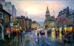 """""""It's misty because of the rain, and rain it does a lot of in The Lake District where Graham Twyford lives and paints. Sign Printing, Online Printing, Cumbria, Lake District, Artsy Fartsy, Contemporary Art, Original Paintings, Art Gallery, Street View"""