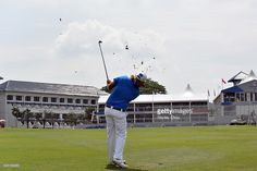 Victor Dubuisson of Team Europe plays an approaching shot on the 18th hole during the Foursome Match play at Glenmarie G&CC on January 16, 2016 in Kuala Lumpur, Malaysia.