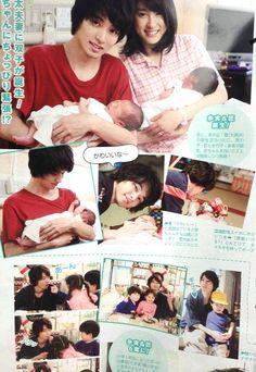 "Mare couple becomes twins' parents!!  Kento Yamazaki x Tao Tsuchiya, BTS, J Drama ""Mare"", Aug/18/'15 http://www.drama.net/mare [Eng. sub]"