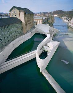 Hydro-electric powerstation in Kempten, Germany by Becker Architekten