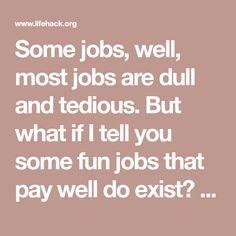 interesting jobs that pay well