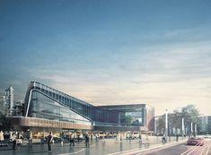 Medical Center on Behance Healthcare Architecture, University Architecture, Futuristic Architecture, Facade Architecture, Concept Architecture, Mix Use Building, Mall Design, Hospital Design, Architecture Visualization