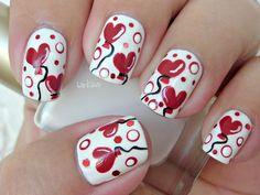 Heart Ballons VALENTINE #nail #nails #nailart