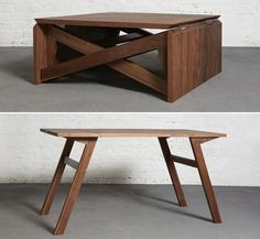 Awesome Design: MK1 Coffee Table Folds Out Into A Dining Table