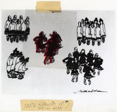 Millicent Hodson's sketches of the costumes and formations