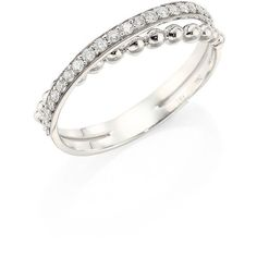 Hueb Bubbles Diamond & 18K White Gold Ring ($1,240) ❤ liked on Polyvore featuring jewelry, rings, pave diamond band ring, pave diamond ring, 18 karat gold ring, fine jewelry and bubble ring